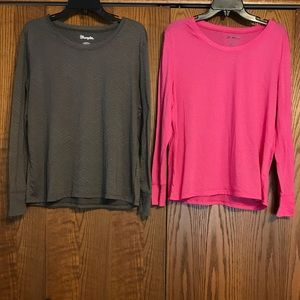 Wrangler long sleeve shirts